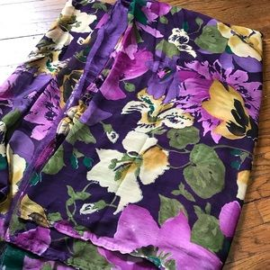 Dresses & Skirts - Purple floral Saree